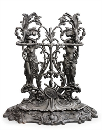 A CAST IRON STICK STAND