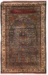 A fine silk Turkish prayer rug