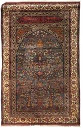 A fine silk Turkish prayer rug