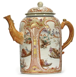 A CHINESE EXPORT COFFEE POT AN