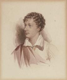 Portrait of Lord Byron, half-l