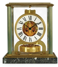 A gilt brass Atmos clock on gr