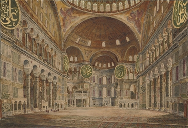The interior of Haghia Sophia