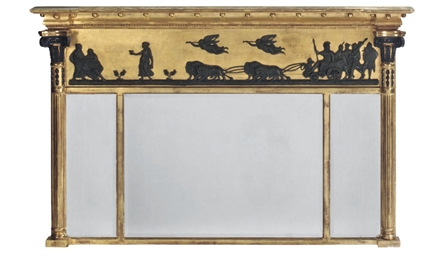 A BRONZED AND GILT FRAMED TRIP