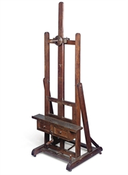 A FRENCH BEECH ARTIST'S EASEL