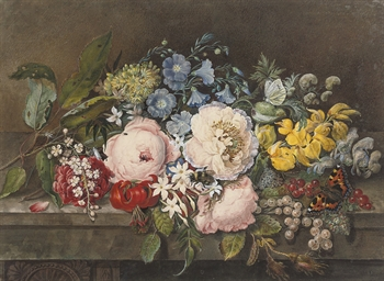 A still life of summer flowers