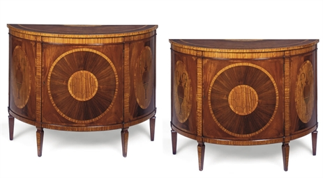 A PAIR OF INLAND MAHOGANY, KIN