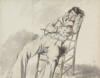 Study of a Captain reclining o