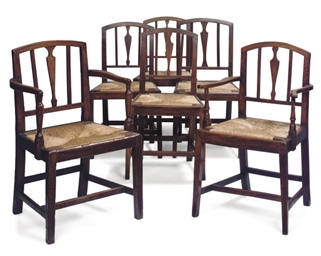 A MATCHED SET OF SIX VICTORIAN