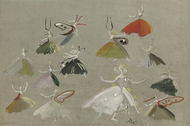 Costume designs for fairies