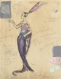 Costume design for an elegant
