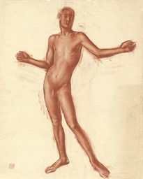 Study of a male nude (illustra
