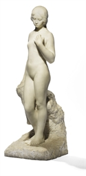 A marble figure of a nude