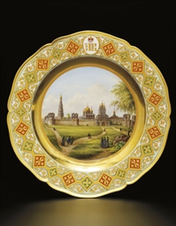 A German porcelain plate with