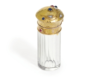 A jewelled gold-mounted scent-