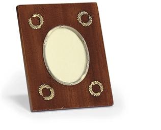 A silver-gilt mounted mahogany