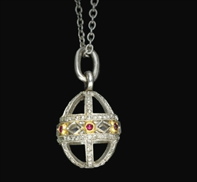 A jewelled platinum miniature