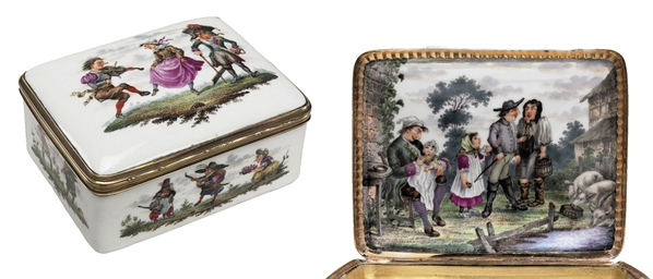 A GILT-METAL MOUNTED SNUFF-BOX