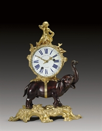 A LOUIS XV ORMOLU, PATINATED B