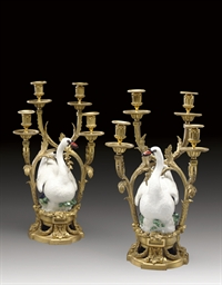 A PAIR OF FRENCH ORMOLU AND ME