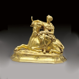 AN ORMOLU FIGURAL GROUP OF EUR
