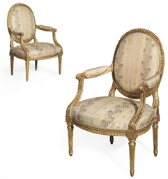 A PAIR OF LOUIS XVI GILTWOOD F