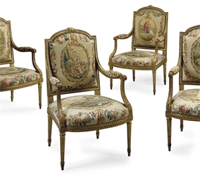 A SET OF FOUR LOUIS XVI GILTWO