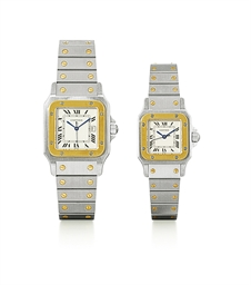 CARTIER, SANTOS  A PAIR OF STA