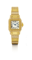 CARTIER, SANTOS  LADY'S YELLOW