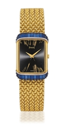 PIAGET  YELLOW GOLD AND SAPPHI