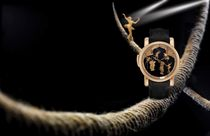 ULYSSE NARDIN, CIRCUS MINUTE REPEATER  PINK GOLD MANUALLY-WOUND MINUTE REPEATING WRISTWATCH WITH ONYX DIAL AND ANIMATED CIRCUS SCENE, LIMITED EDITION OF 30
