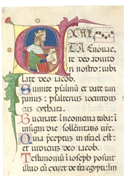 KING DAVID PLAYING THE PSALTER