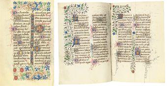 PSALTER HOURS, Use of Rouen, in Latin, ILLUMINATED MANUSCRIPT ON VELLUM