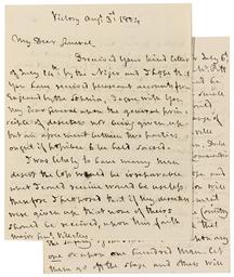 NELSON. Autograph letter signe