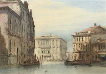 View of the Ca' Foscari on the Grand Canal, Venice