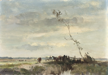 Cattle on the marsh - Norfolk