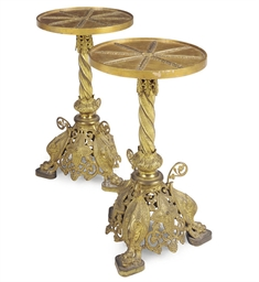 A PAIR OF FRENCH BRASS OCCASIO