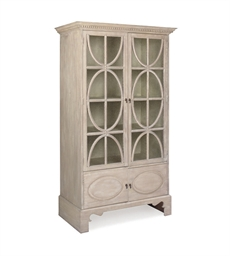 A CREAM PAINTED BOOKCASE