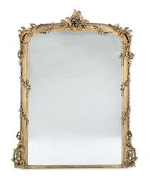 A MID VICTORIAN GILTWOOD AND C