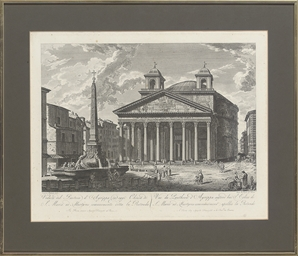 Veduta del Panteon d' Agrippa