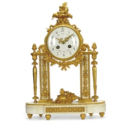 A FRENCH ORMOLU AND MARBLE STR