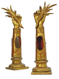 A PAIR OF ITALIAN GILTWOOD REL