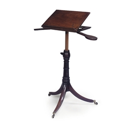 A REGENCY MAHOGANY ADJUSTABLE