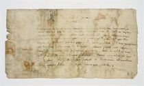 GROTIUS, Hugo (1583-1645). Autograph letter signed ('H. Grotius') to Franciscus Sweertius [the Antwerp historian Pierre-François Sweerts], Paris, 3 September 1621, in Latin, expressing delight at praise of his work by Erycius Puteanus, though 'I do not so flatter myself as to qualify as worthy of such a eulogy something I wrote more as a consolation for my fate than as a proof of genius' [Non ita quidem mihi blandior ut quae in solatium magis casus quam in experimentum ingenii scripsi tanto elogio digner]; he promises to send Sweerts a copy of his 'Silva', though he has few left; the only news is that the king [Louis XIII] is striking at Montauban, though Grotius himself is among those who long for peace, one page, oblong 8vo (somewhat discoloured and worn); with a translation.