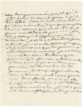 JOSEPHINE (1763-1814), Empress of Napoleon I. Autograph letter signed ('Josephine') to Eugène de Beauharnais (her son), Malmaison, 22 March [1812], 3 pages, 8vo, on a bifolium.