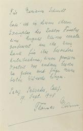 MANN, Thomas (1875-1955).  Dok