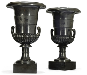 A PAIR OF EARLY VICTORIAN BLAC