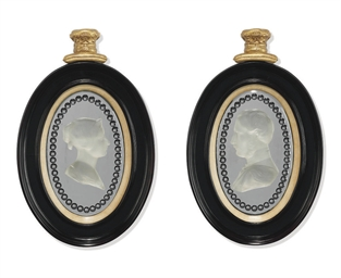 A PAIR OF VICTORIAN CLEAR AND