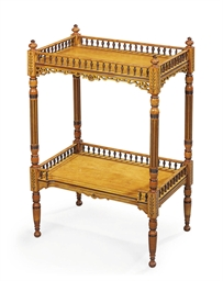 A MID-VICTORIAN SATINWOOD AND