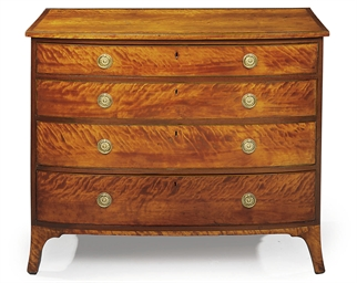 A GEORGE III SATINWOOD BOWFRON